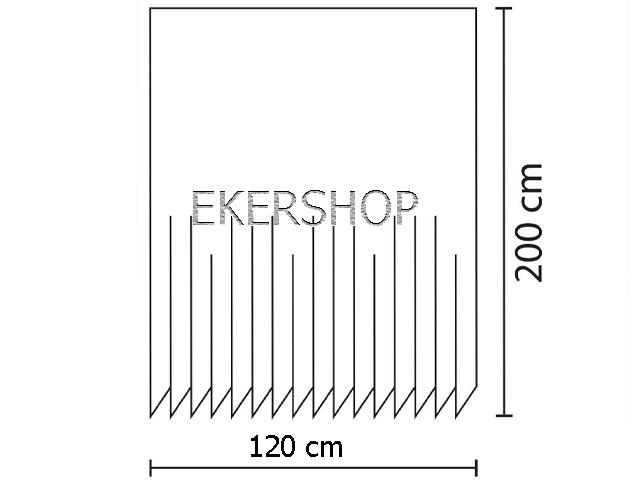 textil duschvorhang 120x200 blau weiss wassertropfen tropfen inkl ringe wei. Black Bedroom Furniture Sets. Home Design Ideas
