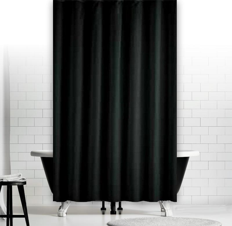 textil duschvorhang uni farben verschiedene gr en verschiedene farben w hlbar ebay. Black Bedroom Furniture Sets. Home Design Ideas