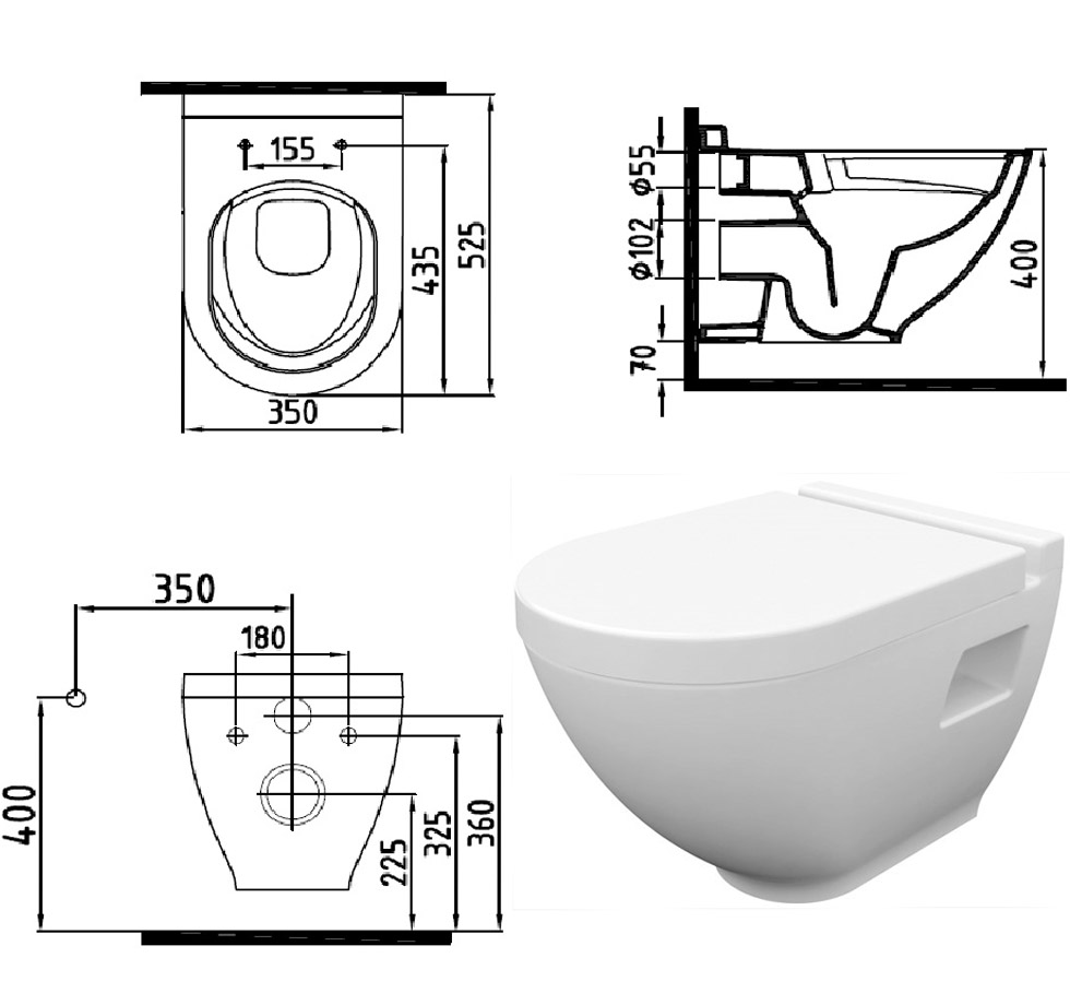 bien antibakteriell sp lrandlos h nge dusch wc taharet bidet intimdusche no rim ebay. Black Bedroom Furniture Sets. Home Design Ideas
