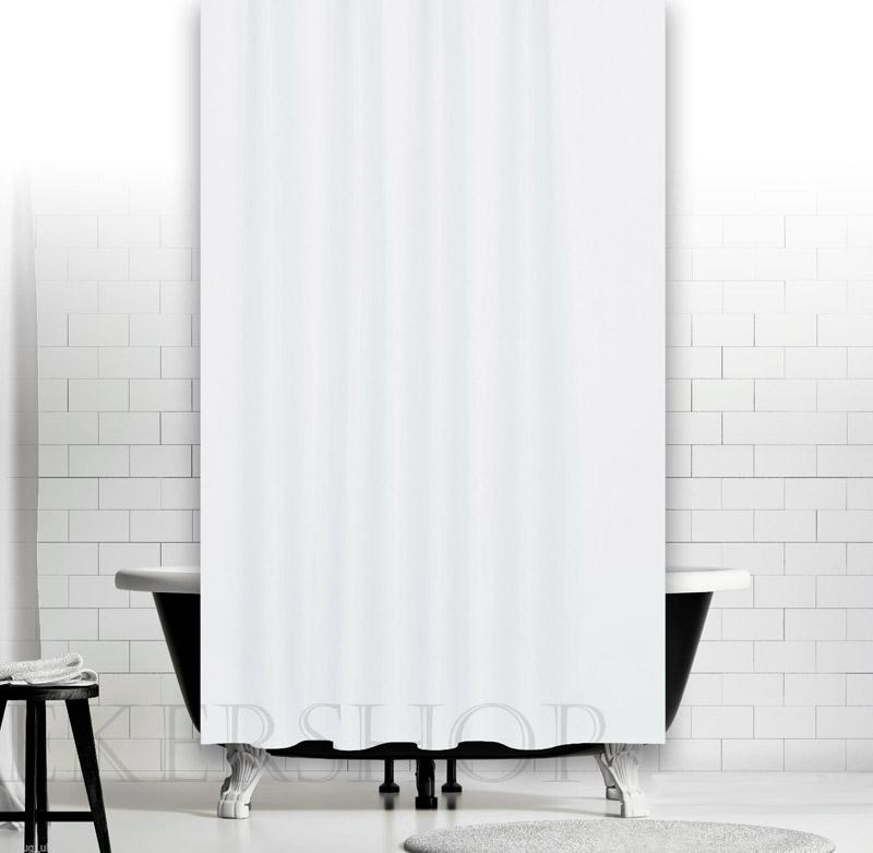 anti bakteriell schimmel textil duschvorhang 120 x 200 uni weiss inkl ringe ebay. Black Bedroom Furniture Sets. Home Design Ideas